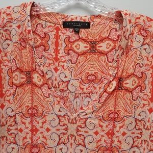 SANCTUARY CLOTHING | RAYON PATTERNED BLOUSE, M